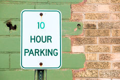 10 Hour Parking Royalty Free Stock Photos