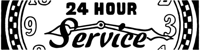 24 Hour Service Stock Photos