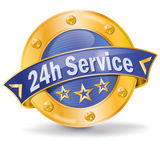 24 hour service. Button 24 hour service and call center Royalty Free Stock Photo