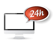 24 hour service customer technology support. Illustration design Royalty Free Stock Photos