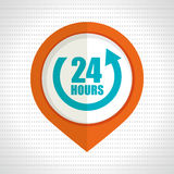 24 hour service design. Illustration eps10 graphic Royalty Free Stock Images