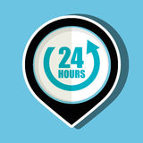 24 hour service design. Illustration eps10 graphic Royalty Free Stock Photography