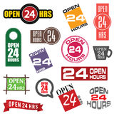 24 hour service icon element set illustration. In colorful Stock Images