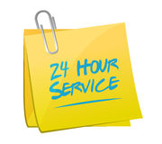24 hour service post illustration design. Over a white background Royalty Free Stock Images