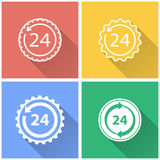 24 hour service - vector icon. Stock Images