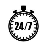 24 hour support icon Royalty Free Stock Photography