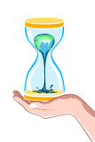 Hour watch in hand Royalty Free Stock Photo