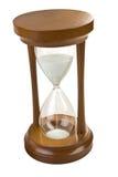 Hourglas escuros de Brown isolados fotografia de stock