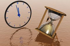 hourglass часов Стоковые Фотографии RF