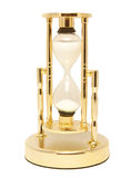 Hourglass. Golden hourglass isolated on white background Royalty Free Stock Image