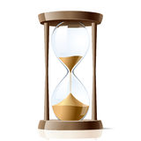 Hourglass. Vector illustration of a hour-glass vector illustration