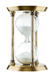 Hourglass. Against a white background Royalty Free Stock Photo