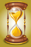 Hourglass. In vintage style. Vector image Royalty Free Stock Images
