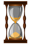 Hourglass. Glass hourglass sand that sprinkles vector illustration