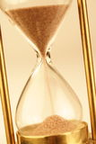 Hourglass. Counting the time is running out Stock Images