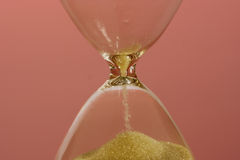 Hourglass. Counting the time is running out Stock Photography