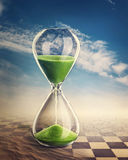 Hourglass. Time concept with a hourglass Royalty Free Stock Image
