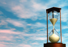 Hourglass. 3D render of an hourglass Royalty Free Stock Images