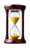 Hourglass. Closeup shot (isolated - white background Royalty Free Stock Photography