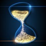 Hourglass, abstract magic sand clock wallpaper. Vector illustration. Stock Photo