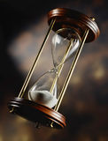 Hourglass. Antique hourglass, time is up Royalty Free Stock Photo