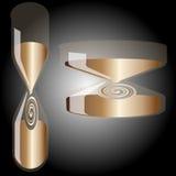 Hourglass auf Steigunghintergrund Stockbild