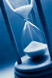 Hourglass azul fotografia de stock royalty free