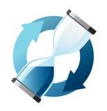 Hourglass azul ilustração stock