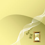 Hourglass background Royalty Free Stock Photography