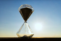 Hourglass on a background sunset Stock Image