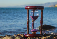 Hourglass at a beach of the Red Sea Royalty Free Stock Photo