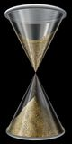 Hourglass on black Stock Images