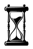 Hourglass. black silhouette. Black silhouette of hourglass on a white background Royalty Free Stock Images