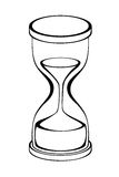 Hourglass black white isolated object illustration Stock Images