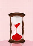 Hourglass for blood donation Stock Image