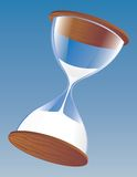 Hourglass on blue vector illustration
