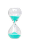 Hourglass with blue sand Stock Photography
