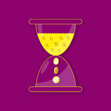 Hourglass for business Royalty Free Stock Photo