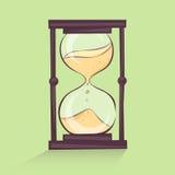 Hourglass cartoon illustration, time sandglass, retro style,  image Royalty Free Stock Image