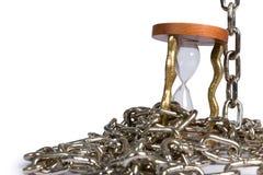 Hourglass with chain Stock Photo