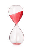 Hourglass clock isolated Stock Images