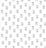 Hourglass clock wait seamless pattern Royalty Free Stock Photography