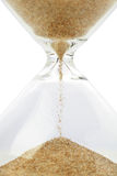 Hourglass. Close up of hourglass with sand Royalty Free Stock Images