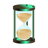 Hourglass color symbol. Vector illustration stock illustration