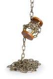 Hourglass com corrente foto de stock royalty free