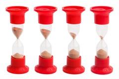 Hourglass com um balanço diferente da areia Imagem de Stock