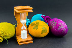 Hourglass for cooking Easter eggs Stock Images