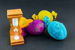 Hourglass for cooking Easter eggs Stock Image
