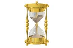 Hourglass, 3D rendering stock illustration