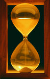 Hourglass in the dark Stock Photography